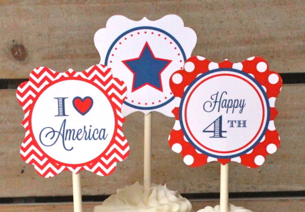 patriotic toppers