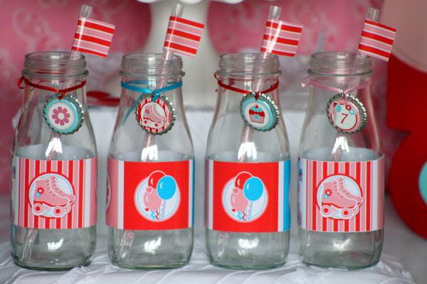 roller milk bottles