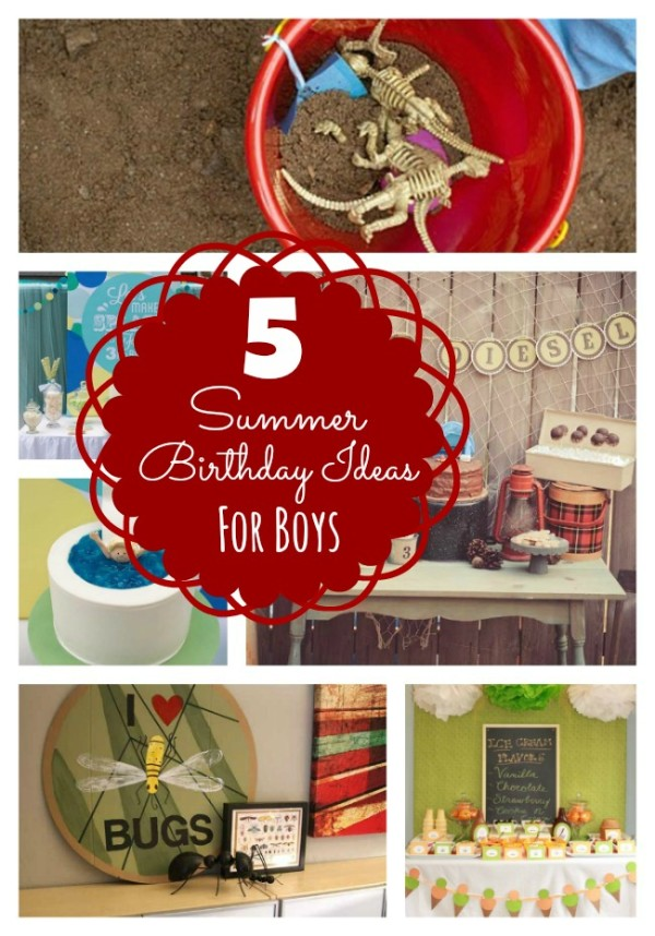 Summer birthday ideas for boys bloom designs Summer party themes
