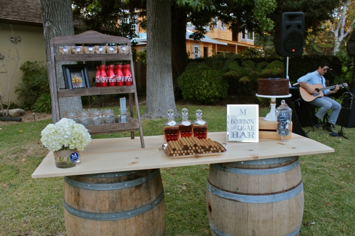 A Bourbon Party Theme Is Incomplete Without The Presence Of Unique American Whiskey Marks Guests Sampled Not One But Three Varieties At