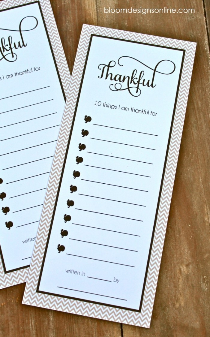 thankful lists