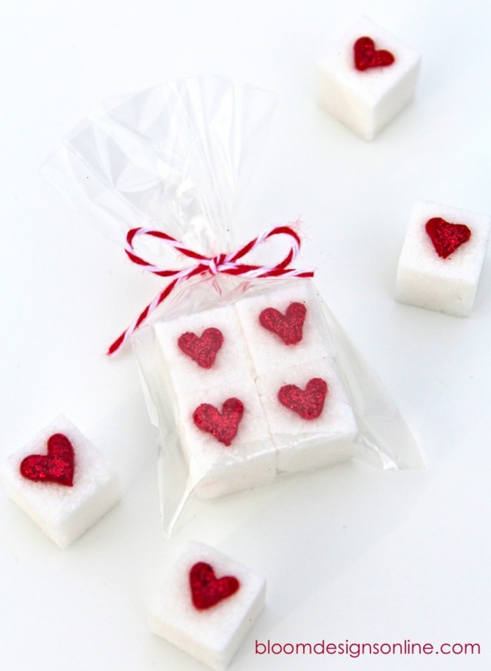 Valentine sugar cubes