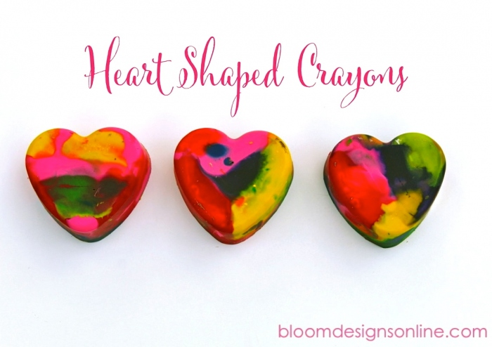 Make It Monday Heart Shaped Crayons Bloom Designs