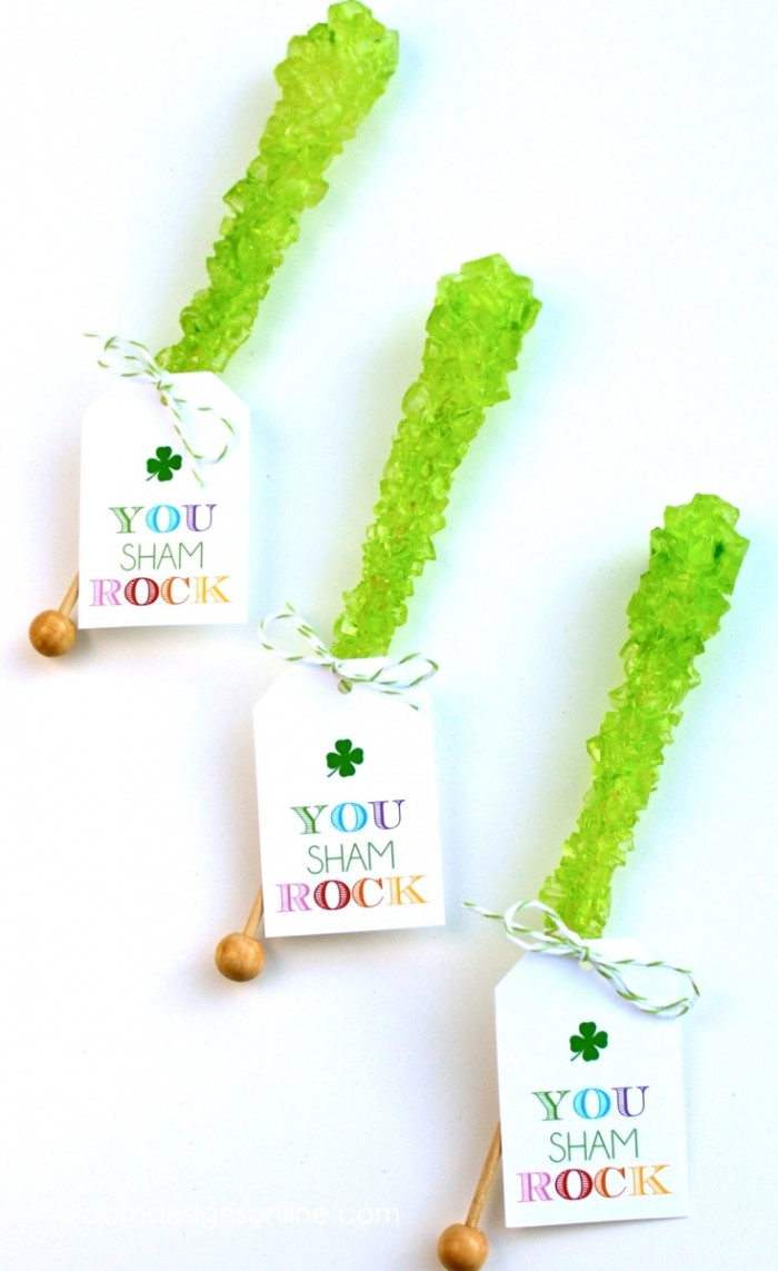 you sham rock- free printable for St. Patricks Day