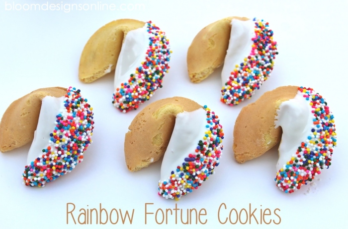 rainbow fortune cookies