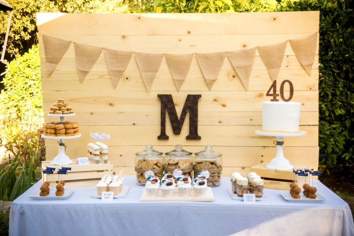 Wood Dessert Table ~ Make it monday easy wooden backdrop bloom designs