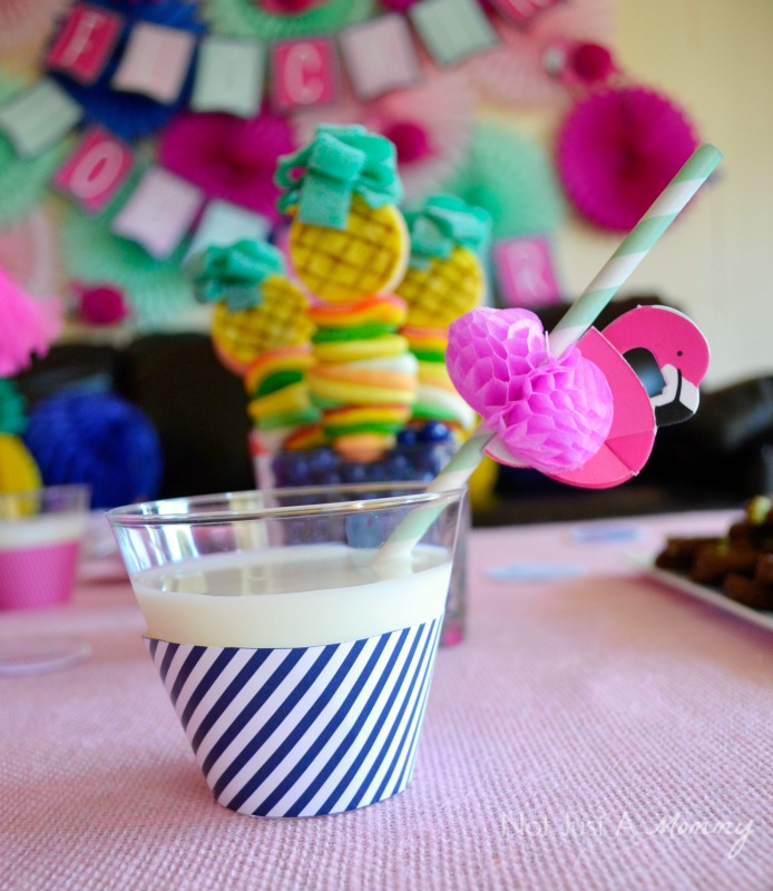 Flamingo + Pineapple Party drink