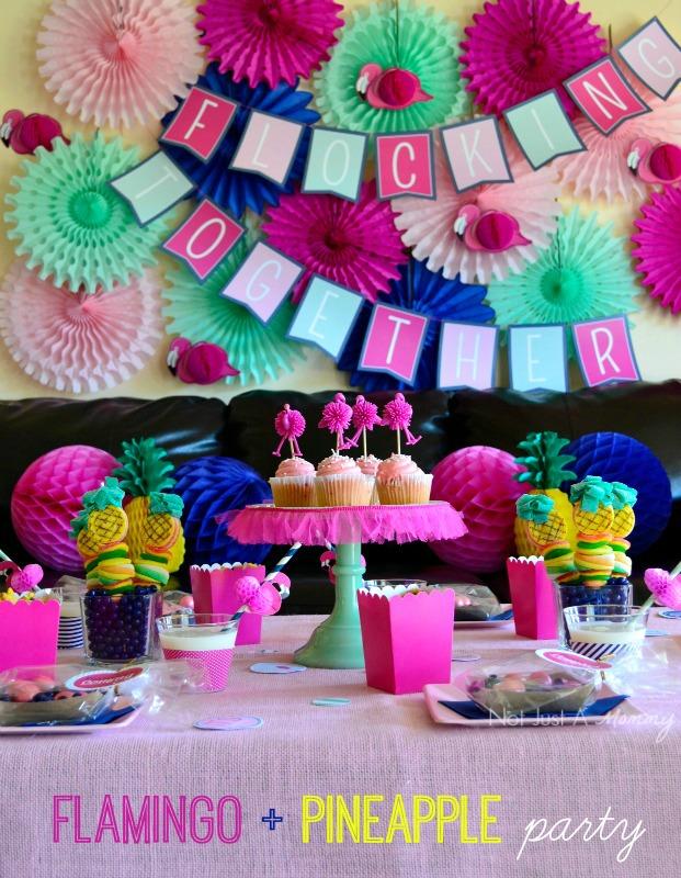 Flamingo + Pineapple Party