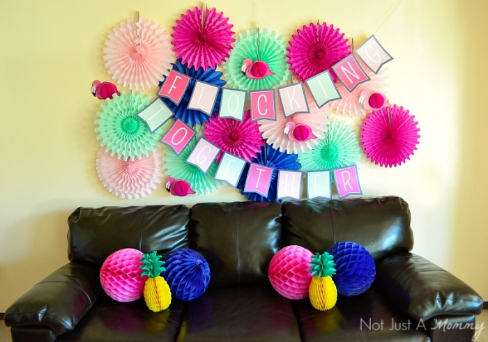 Flamingo + Pineapple Party wall