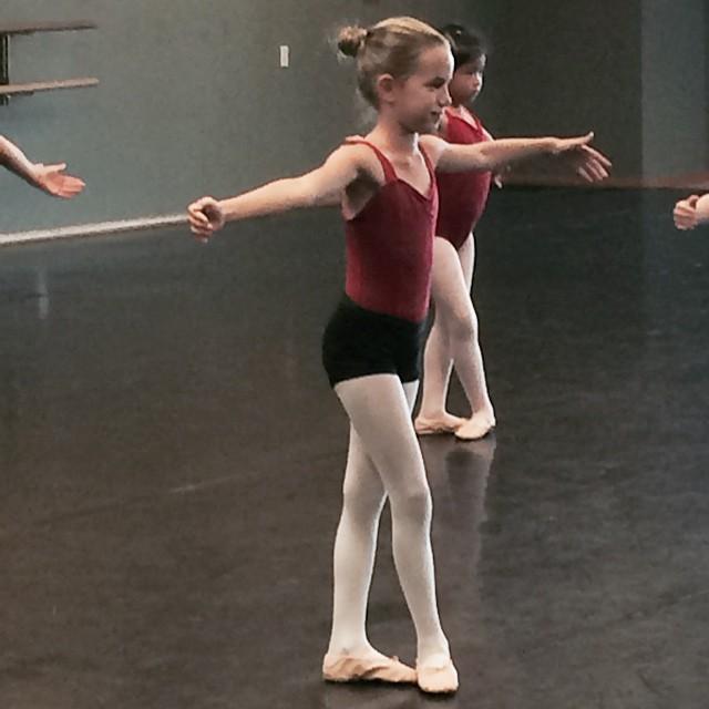 My sweet ballerina. Love my little baby who looks so big #dance #ballet #mommytime