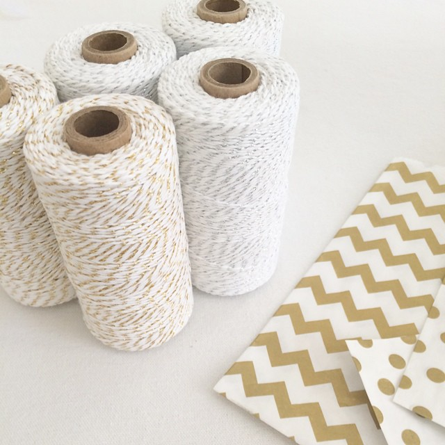 Ready to sparkle this holiday season. Metallic gold and silver bakers twine now available in the shop #baker #etsy #bloom #wrapitup #gold
