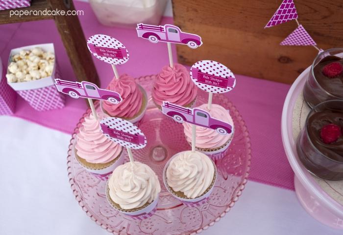 pinktruck cupckakes