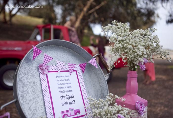 pinktruck welcomesign