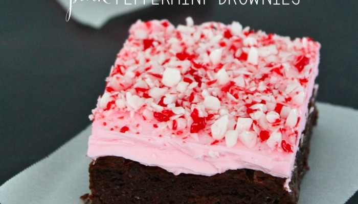 pink peppermint brownies