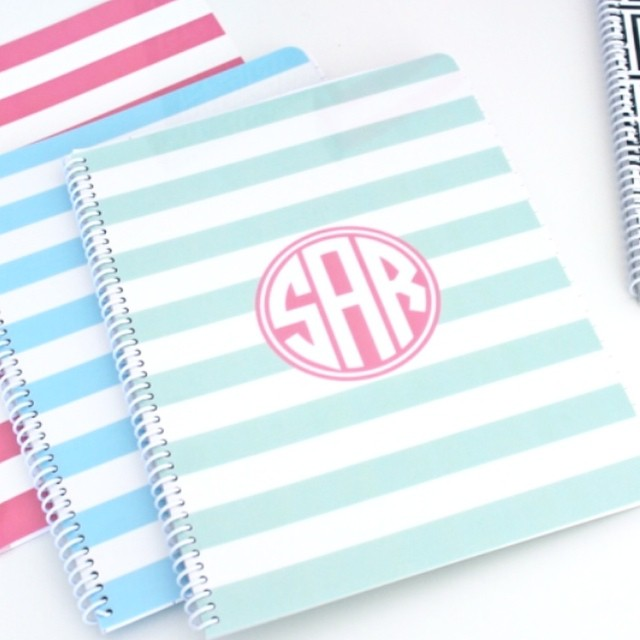 Looking for some unique holiday gifts?  Check out our complete line of personalized notebooks, folders, binders and journals. Endless color combination. I can't decide which is my favorite. Perfect style for any office. #gift  #personalized #monogrammed #holiday #bloom