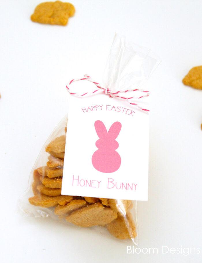 Honey Bunny Easter Favors and free printable