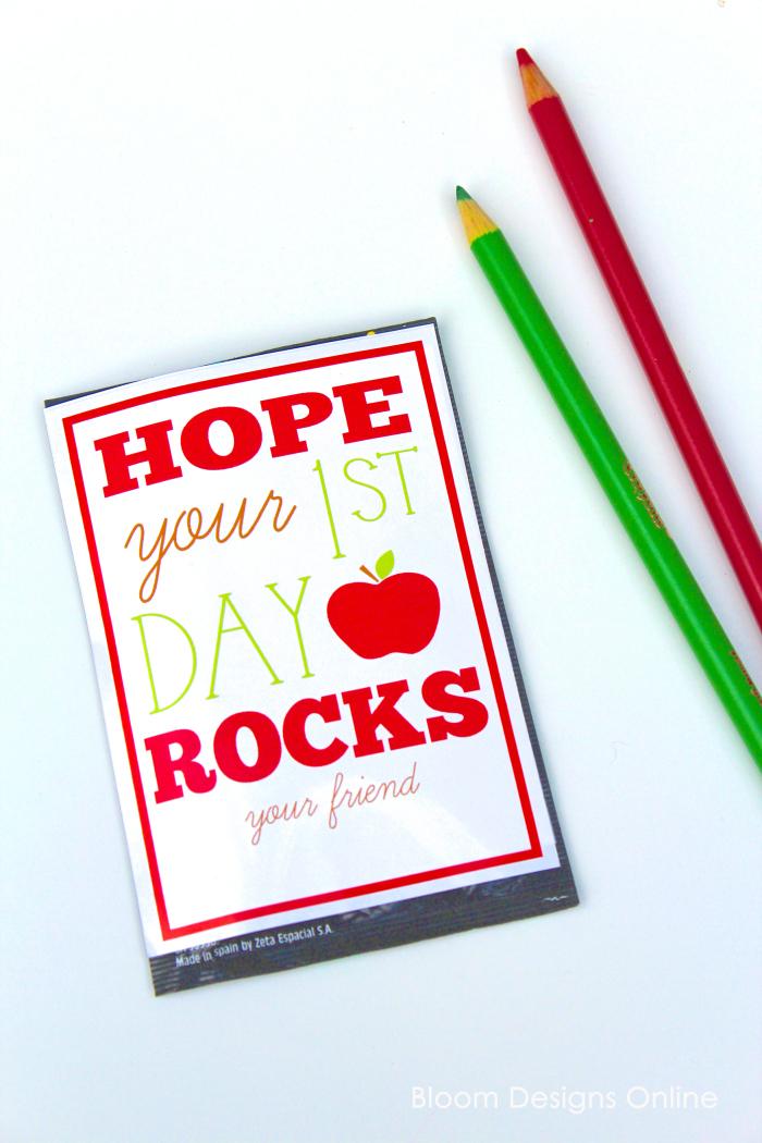 First Day of School Rocks!