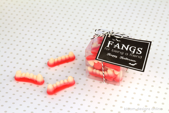 Fangs for Being A Friend- Halloween Treat