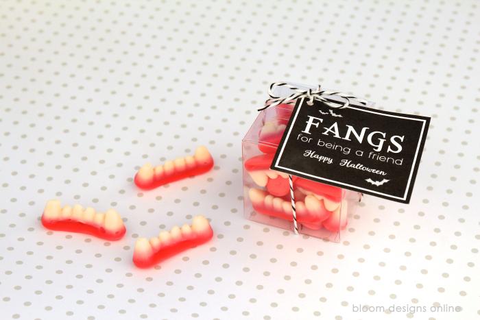 Fangs for Being A Friend- Halloween Treat