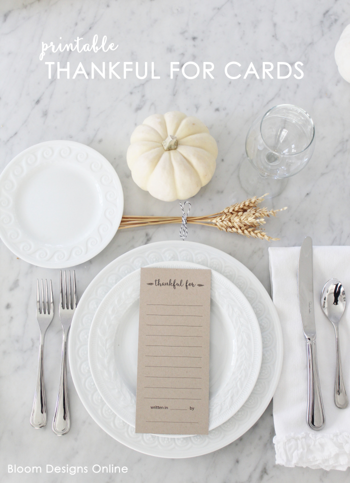 Thankful for cards