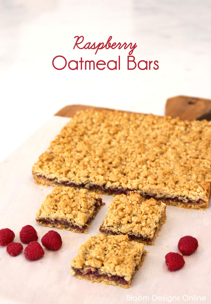 Raspberry Oatmeal Bars - Bloom Designs