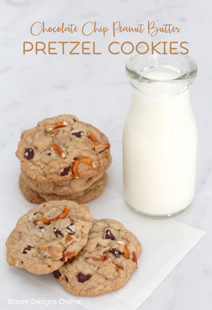 Chocolate Peanut Butter Pretzel Cookies