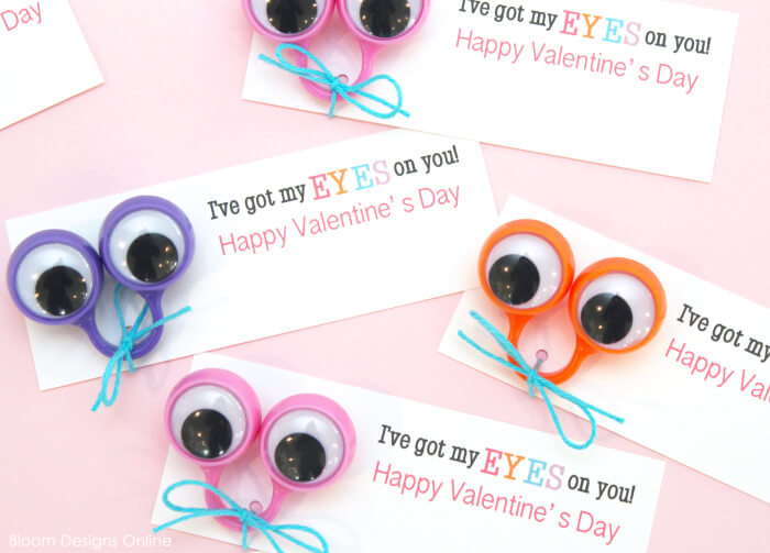 I've Got My Eyes On You Free Valentines Printables By Bloom Designs