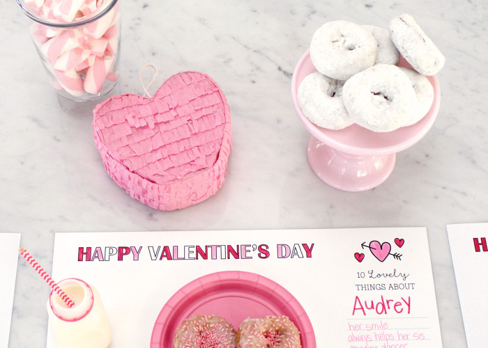 Free Printable Valentine's Placemats by Bloom Designs