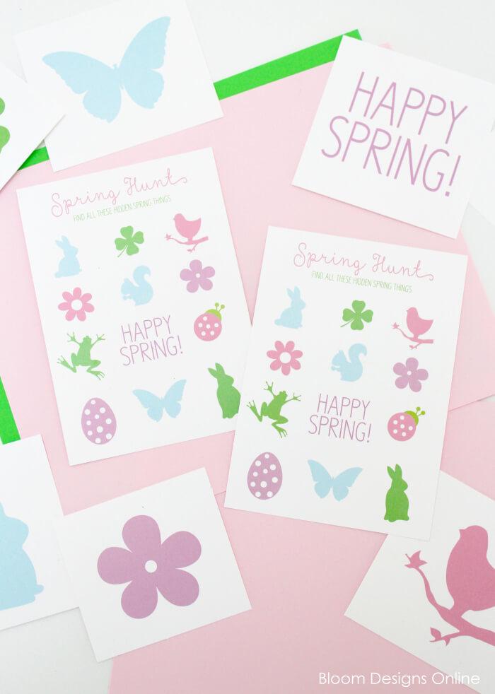 Spring Scavenger Hunt Free Printable Game