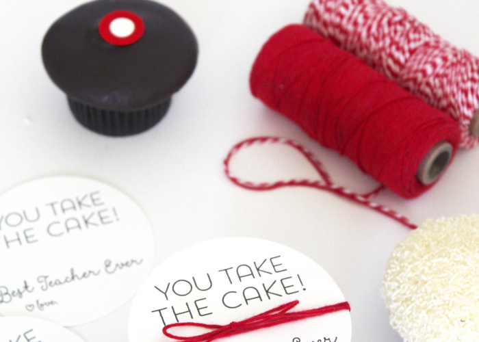 You Take The Cake Teacher Appreciation Idea and free Printable from Bloom Designs