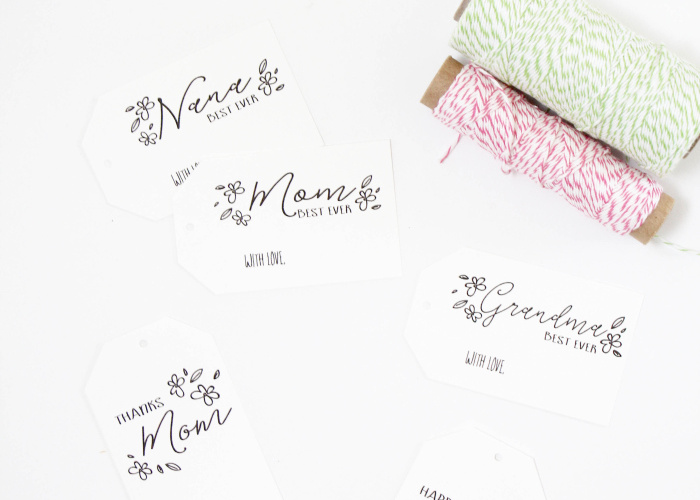 Mother's Day Gift Tags by Bloom Designs free printable