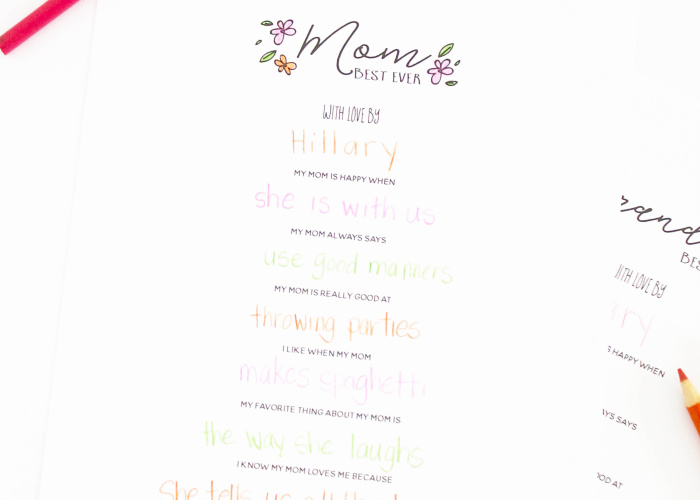 Mother's Day Gift Idea - Free printable from Bloom Designs