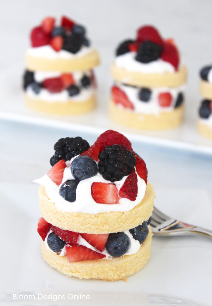 Kroger Design Your Own Cake : Berry Pound Cake Stacks - Bloom Designs